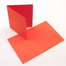 "A7 7"" x 4 7/8"" Basis Blank Card Orange (50 Pieces) [PC009]"