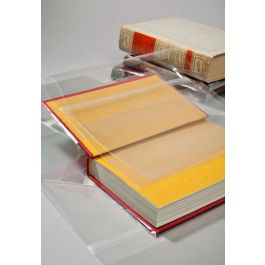 "11 3/8"" x 21 3/4"" Clear Slip-on Book Covers (25 Pieces) [BC113E]"