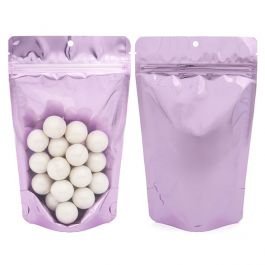 "5 1/8"" x 3 1/8"" x 8 1/8"" (Outer Dims) Brilliant Lavender Stand Up Pouch w/Hang Hole (100 Pieces) [ZBGB3LV]"