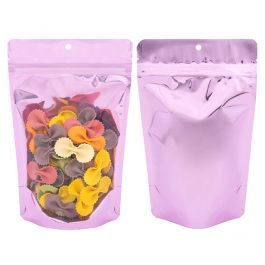 "5 1/8"" x 3 1/8"" x 8 1/8"" (Outer Dims) Brilliant Pink Stand Up Pouch w/Hang Hole (100 Pieces) [ZBGB3PK]"