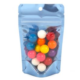"""3 1/8"""" x 2"""" x 5 1/8"""" (Outer Dims) Brilliant Blue Stand Up Pouch w/Hang Hole (100 Pieces) [ZBGB1BL]"""