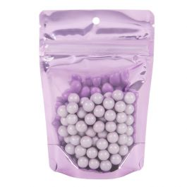 "4"" x 2 3/8"" x 6"" (Outer Dims) Brilliant Lavender Stand Up Pouch w/Hang Hole (100 Pieces) [ZBGB2LV]"