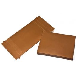 "4 7/8"" x 1"" x 6 3/4"" Bronze Paper Base (25 Pieces) [BZ16]"
