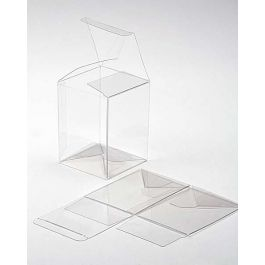 "6 1/4"" x 5 1/2"" x 7 5/8"" Crystal Clear Pop & Lock Boxes (25 Pieces) [PLB106]"