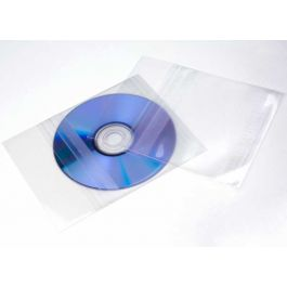 "4 7/8"" x 4 7/8"" + Flap, Crystal Clear Protective Closure Bags for CDs 6 Mil (100 Pieces) [BD4]"
