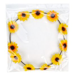 "8"" x 8"" Crystal Clear Zip Bags + Round Hang Hole + Vent, 2 mil (100 Pieces) [ZR88V]"