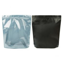 "14 3/4"" x 5"" x 16 3/4"" (Outer Dimensions) Matte Black Backed Zipper Pouch Bags (50 Pieces) [ZBGB9]"