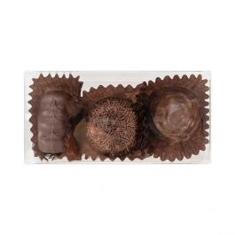 "2 1/8"" x 1 3/8"" x 4 1/4"" Truffle Box with Insert (100 Pieces) [CNDY195]"