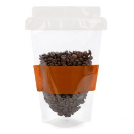 "6"" x 3 1/2"" x 9"" Coffee Cup Shaped Pouch (100 Pieces) [SP7C]"