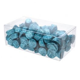 "4 3/8"" x 3"" x 8 5/16"" Crystal Clear Boxes® (25 Pieces) [FPB158]"