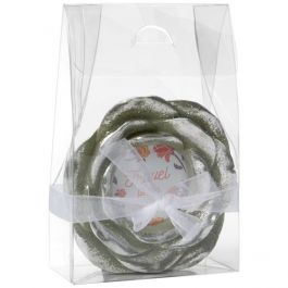 "4 1/2"" x 2"" x 7"" Large Clear Tapered Tote Box (25 Pieces) [FS280]"