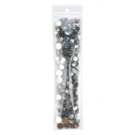 "2"" x 8"" Crystal Clear Zip Bags + Round Hang Hole, 3 mil (100 Pieces) [Z3R28]"