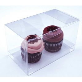 "7"" x 4"" x 4"" Double Cupcake Box Set (100 Set) [CBS174]"