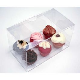 "7"" x 4"" x 3"" Cupcake Box Set for Six Minis (100 Sets) [CBS179]"