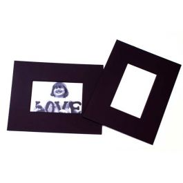 """8"""" x 10"""" Double Thick Single Mat Black 3.5"""" x 5.5"""" Inner Cut (25 Pieces) [MS31002]"""