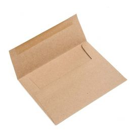 "A2 5 3/4"" x 4 3/8"" Brown Bag Envelopes (50 Pieces) [EB20]"