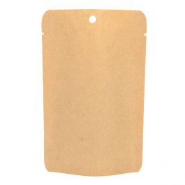 "4"" x 2 3/8"" x 6""  Kraft Eco Stand Up Pouch without Zipper (100 Pieces) [SUPEK2]"