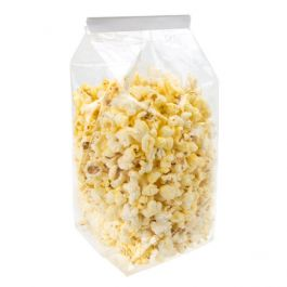 """4"""" x 4"""" x 9"""" Premium Eco Clear Flat Bottom Gusset Bags (100 Pieces) [CFBG7]"""