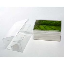 "6 1/8"" x 4 1/8"" x 3"" Crystal Clear Boxes® (25 Pieces) [FPLB214]"