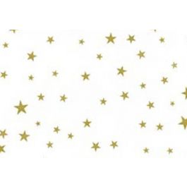 "5"" x 3"" x 11 1/2"" More Stars Gold Printed Gusset Bags, 1.2 Mil (100 Pieces) [G5MSG]"