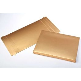 "3 3/4"" x 5/8"" x 5 3/8"" Gold Paper Base (25 Pieces) [GD10]"