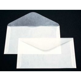 "6 3/4"" x 3 3/4"" Glassine Open Side 2 Side Seams (100 Pieces) [G21]"