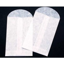 "3"" x 4 1/2"" Glassine Open End Center Seam Envelope (100 Pieces) [G5]"