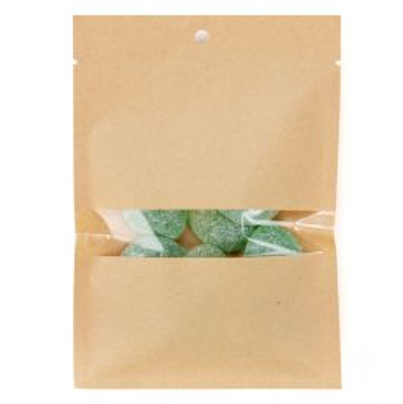 "4"" x 6"" Kraft Compostable Heat Seal Bags w/Window (100 Pieces) [KHS46W]"