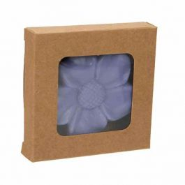 """2 3/4"""" x 9/16"""" x 2 11/16"""" Kraft Paper Window Box with Attached PET Sheet (25 Pieces) [WKRG277]"""