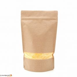 "6 3/4"" x 3 1/2"" x 11 1/4"" (Outer Dimensions) Kraft Zipper Pouch Bags (100 Pieces) [ZBGW4K]"