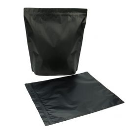 "14 3/4"" x 5"" x 16 3/4"" (Outer Dimensions) Matte Black Zipper Pouch Bags (50 Pieces) [ZBGBB9]"