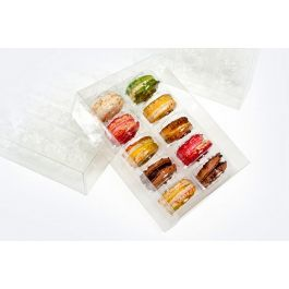 "5 1/16"" x 2"" x 7 1/2"" French Macaron Box Set for Ten (25 Sets) [MBS2]"