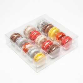 "7 11/16"" x 2"" x 7 1/2"" French Macaron Box Set for 15 (25 Sets) [MBS3]"