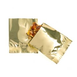 "2"" x 2 1/4"" Shimmer Gold Metallized Heat Seal Bags (100 Pieces) [SMB22QG]"