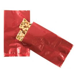 "3 3/4"" x 6 1/4"" Red Metallized Heat Seal Bags (100 Pieces) [SMB3X6QR]"