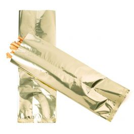 "4"" x 12"" Shimmer Gold Metallized Heat Seal Bags (100 Pieces) [SMB412G]"