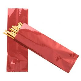 "4"" x 12"" Red Metallized Heat Seal Bags (100 Pieces) [SMB412R]"