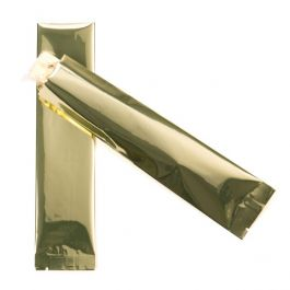 """2"""" x 8"""" Premium Shimmer Gold Metallized Heat Seal Bags (100 Pieces) [SVP28G]"""