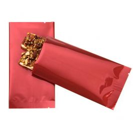 "3"" x 5 1/2"" Premium Red Metallized Heat Seal Bags (100 Pieces) [SVP35HR]"