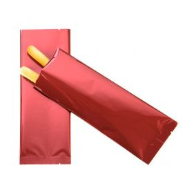 "3"" x 8"" Premium Red Metallized Heat Seal Bags (100 Pieces) [SVP38R]"