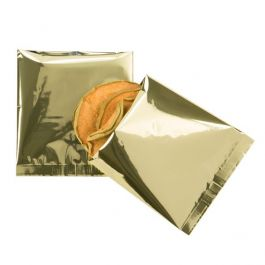 "4"" x 4"" Premium Shimmer Gold Metallized Heat Seal Bags (100 Pieces) [SVP44G]"