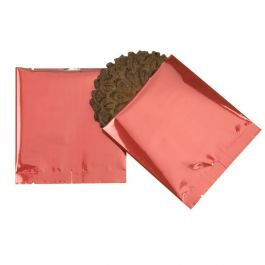 "4"" x 4"" Premium Red Metallized Heat Seal Bags (100 Pieces) [SVP44R]"