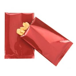 "4"" x 6"" Premium Red Metallized Heat Seal Bags (100 Pieces) [SVP46R]"