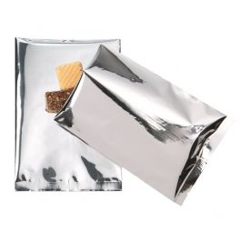 "5"" x 7"" Premium Silver Metallized Heat Seal Bags (100 Pieces) [SVP57S]"