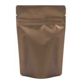 "4"" x 2 3/8"" x 6"" (Outer Dimensions) Bronze Metallized Zipper Pouch Bags (100 Pieces) [ZBGM2BZ]"