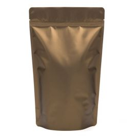 "6 3/4"" x 3 1/2"" x 11 1/4"" (Outer Dims) Bronze Metallized Zipper Pouch Bags (100 Pieces) [ZBGM4BZ]"
