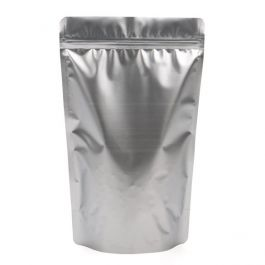 "6 3/4"" x 3 1/2"" x 11 1/4"" (Outer Dimensions) Silver Metallized Zipper Pouch Bags (100 Pieces) [ZBGM4S]"