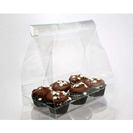 "7"" x 4"" x 9"" Cupcake Bag Set for Six Minis (100 Sets) [CBG6]"