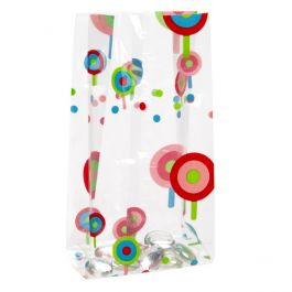 "3 1/2"" x 2"" x 7 1/2"" Lollipop Printed Gusset Bags, 1.2 Mil (100 Pieces) [CG3LP]"