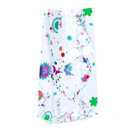 """5"""" x 3"""" x 11 1/2"""" Butterfly Printed Gusset Bags 1.2 Mil (100 Pieces) [CG5BF]"""